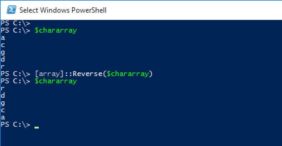 Reversing Char array