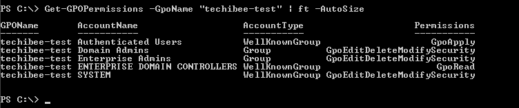 How to get Group Policy permissions using powershell