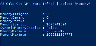 Virtual Machine Memory Change Powershell